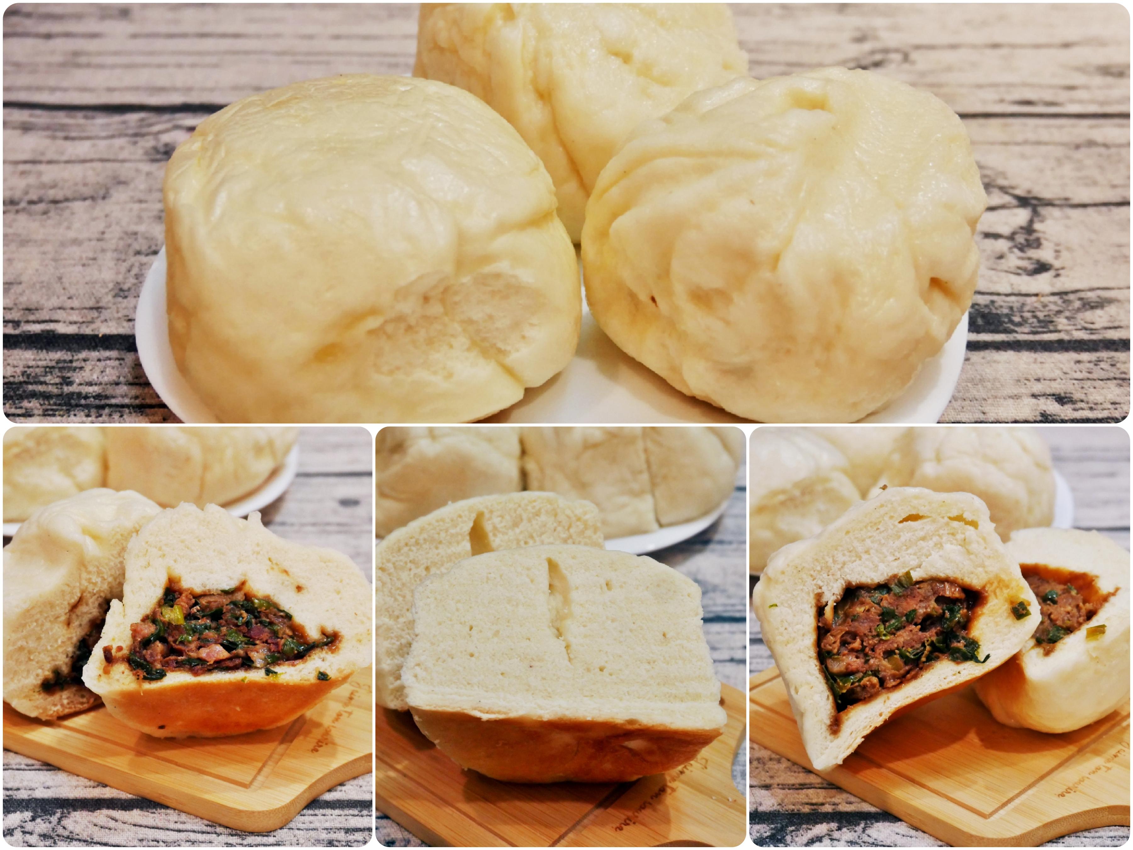 『桃園。中壢』 中原商圈(夜市)美食 包好甲蔥燒包|現做包子 超大一包 皮厚Q彈餡香有嚼勁。