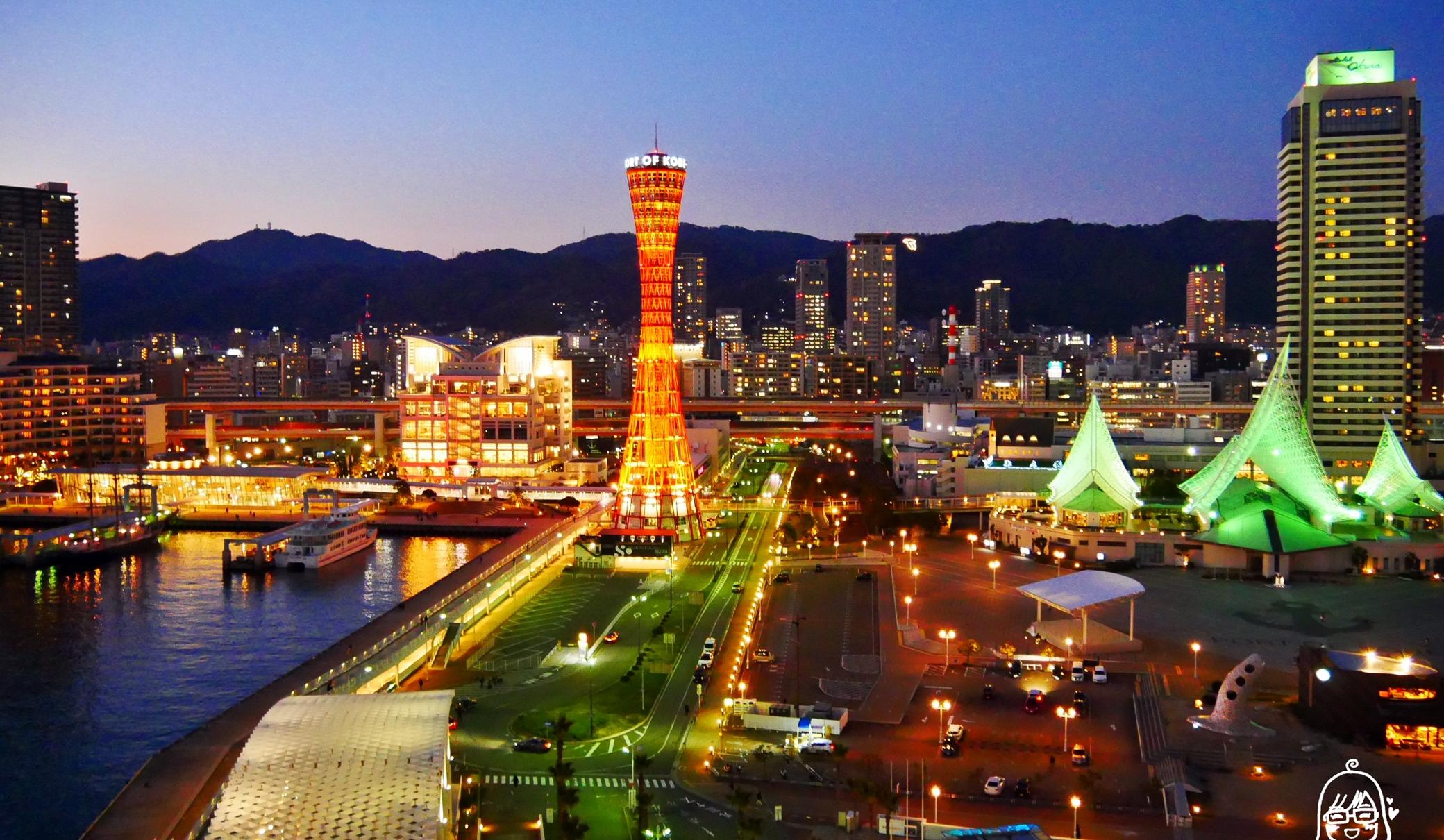 『日本。神戶』 美利堅公園東方大酒店 Kobe Meriken Park Oriental Hotel|坐擁神戶港夜景,海上帆船大飯店好威。 海景第一排CP值超高的五星級酒店,提供免費接駁車來回三宮站。