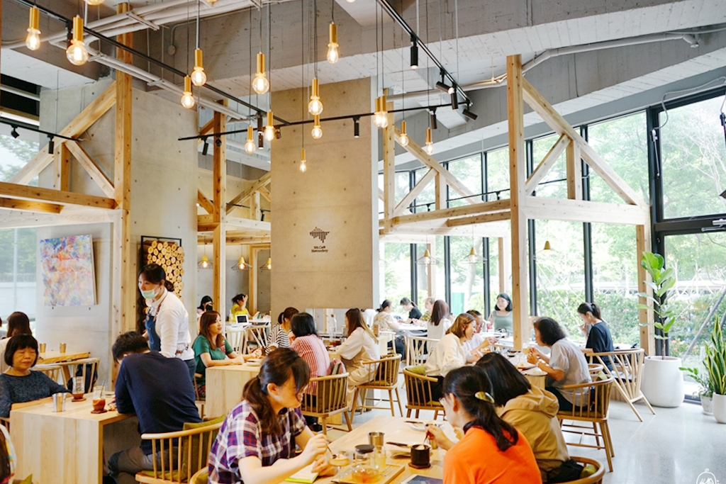 『桃園。美食』 禾林 浮島 Söt Café Bistronömy |森奧餐飲品牌又一超美設計咖啡廳,位於虎頭山下  離塵不離城的北歐暖木綠意舒適空間 推薦早午餐、排餐。